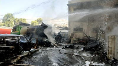 Syria rebels claim blast in central Damascus