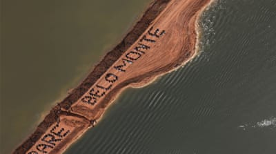 NGOs say that the Belo Monte dam would displace as many as 40,000 indigenous people [EPA]