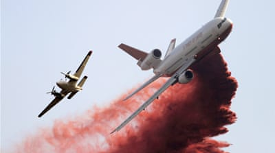 US military deployed to battle wildfires