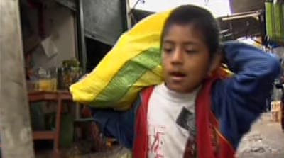 Union fights for Peru child labourers' rights