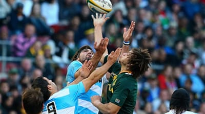 The defeat marked Argentina's inaugural match in the new four-nation Rugby Championship competition [EPA]