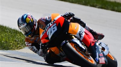 Pedrosa's dominant victory at the Indianapolis circuit closes the gap to within 18 points of MotoGP leader Jorge Lorenzo [EPA]