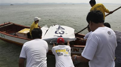 Fishermen took part in the search for the minister and the two other people missing on Sunday [Reuters]