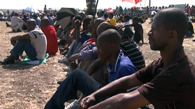 South African miners' village fury at deaths