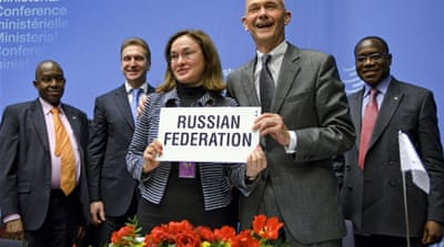 Russia formally grabs WTO seat