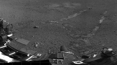 NASA rover takes first drive on Mars