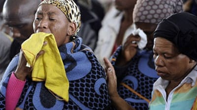 South Africa mourns victims of mine carnage