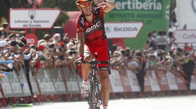 Philippe Gilbert crosses line ahead of overall leader Joaquin Rodriguez after longest stage of race [Reuters]