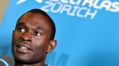 The 23-year-old Kenyan set a new world record at the London 2012 Games, leading the field from the start [Reuters]