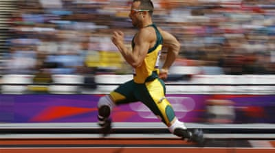 A South African newspaper published a picture of the Pistorius at the University of Pretoria running track as the athlete's agent says a return to training is imminent [Getty Images]