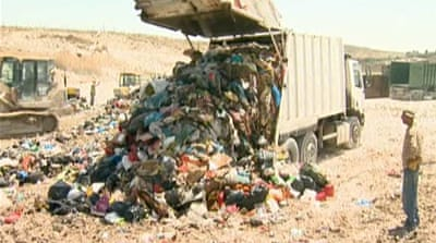 Poor waste disposal puts West Bank at risk