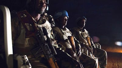 Gunmen surrounded a camp for displaced people in Kassab in North Darfur state, UNAMID peacekeepers said [Reuters]