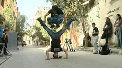 West Bank youth roller-skate for freedom