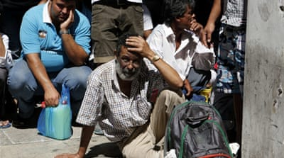 Heat on Greece's undocumented migrants
