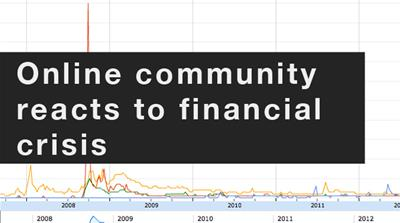 Online community reacts to financial crisis