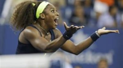 Serena Williams beat Victoria Azarenka in the championship match at the 2012 US Open tennis tournament [AP]