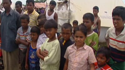 Rohingya refugees stranded after violence
