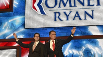 "Outwardly, the Republicans have ""little to offer"" on the international front; neither Mitt Romney nor his running mate Paul Ryan has ""any discernible foreign policy experience"" [EPA]"