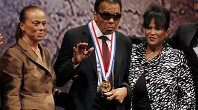 Muhammad Ali awarded US Liberty Medal