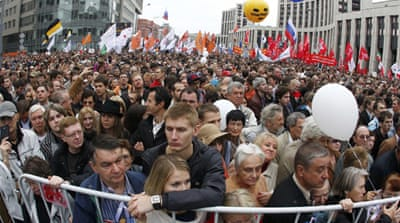 "The ""March of Millions"" protest rally is seen as an attempt to continue the struggle against Vladimir Putin [Reuters]"