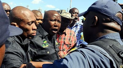Malema barred from addressing S Africa miners