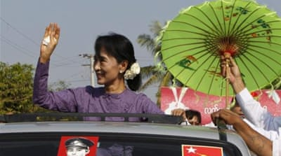 Aung San Suu Kyi was released from house arrest in late 2010 [Reuters]