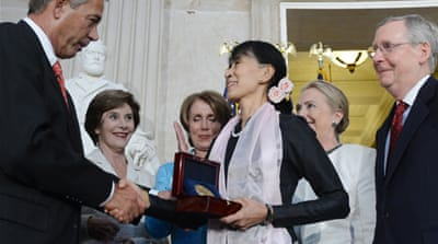 A US official said Obama would hold a private meeting with Suu Kyi at the White House on Wednesday [EPA]