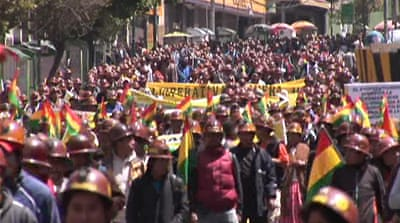 Rival miners clash in Bolivian capital