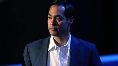 Julian Castro will be introduced by his identical twin, Joaquin, a Texas state legislator, at the opening of the DNC [AFP]