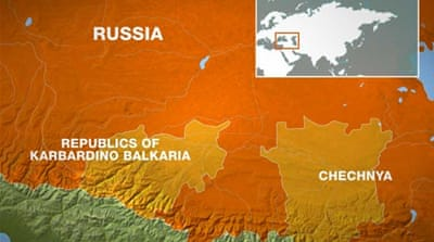 Russian army battles fighters in Caucasus