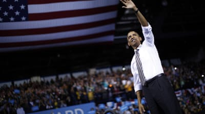 "The liberal hit on Obama has been that ""the man won't fight for what he believes in"" [EPA]"