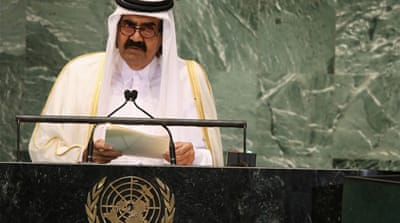 Qatari emir: Arabs must intervene in Syria