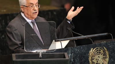 Abbas laid a wreath on Arafat's grave before a speech marking the eighth anniversary of his death [Reuters]