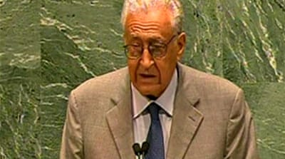 Lakhdar Brahimi calls for Syria transition