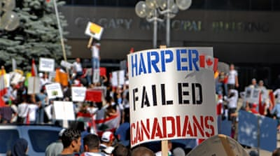 Under Harper's policies, income inequality is growing twice as fast as in the United States [FLICKR / ItzaFineDay]