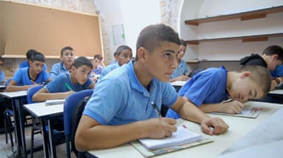 Schools in East Jerusalem use the curriculum of the Palestinian Authority [Jillian Kestler-D'Amours/Al Jazeera]