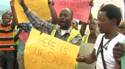 Sacked Air Nigeria staff demand payment