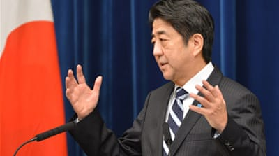 Prime Minister Shinzo Abe said the measures were intended to add two percent to Japan's real economic growth [AFP]