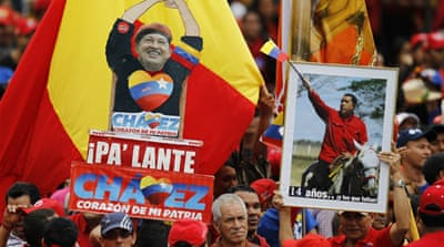 Supporters rally for ailing Venezuela leader