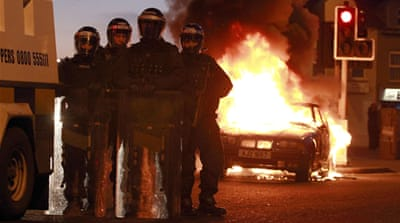 Police used water cannons, shields and occasional shots of plastic bullets to disperse protests [Reuters]