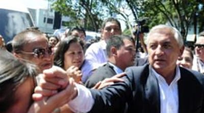 Otto Perez Molina's first year has been a mixed picture for the people of Guatemala [EPA]