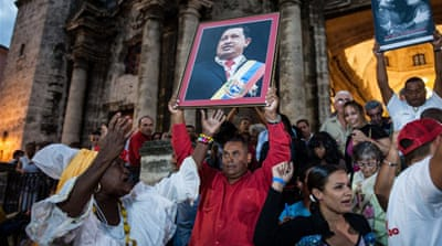 """Chavistas"", as the president's supporters are called, gathered for pro-Chavez rallies across the country [Reuters]"