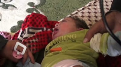 Children suffering in Syrian conflict