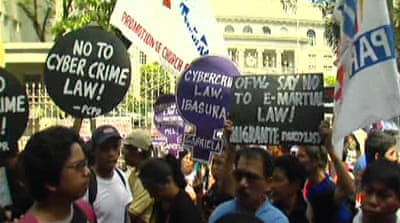 Philippines protest cyber crime law