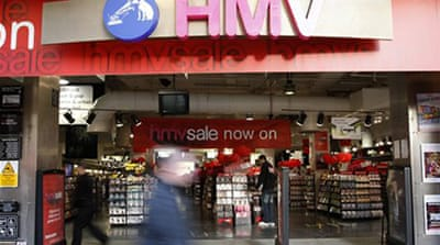 The London Stock Exchange suspended HMV's shares as it was in danger of breaching bank loan arrangements [AP]