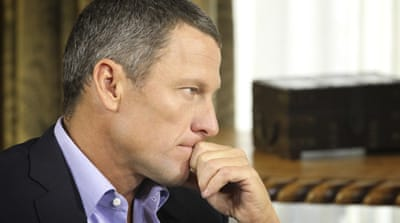 Armstrong says that he hopes to take part in competitive sports again, even after being banned [Reuters]