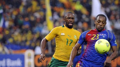Cape Verde defied Bafana Bafana and their home support to earn a point in their first game at a major tournament at a rainy Soccer City [AFP]