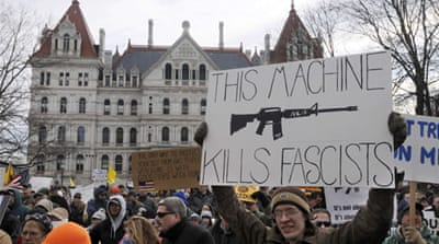 Pro-gun rallies held in US state capitals