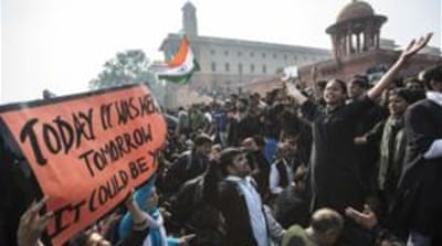 Protesters participated in a prayer meeting for the 23-year-old rape victim in New Delhi [AFP]