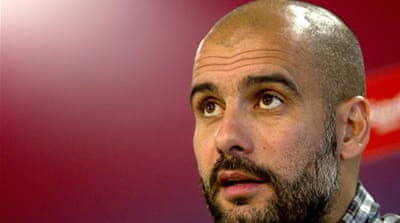 Bayern Munich have won nothing since May 2010 and are desperate for titles – and fans are hoping Guardiola's success will rub off onto their club [EPA]